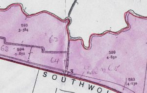 Map extract - Mile Post 3 is at the bottom centre of the map, just above the U and T in SOUTHWOLD