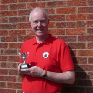 Stewart - in a new SR polo shirt - with his Award