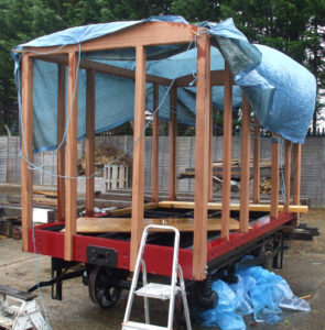 Van 40 frame trial-assembled - apologies for the tarp - it was a very wet day indeed!