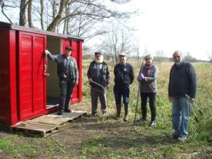 Volunteers onsite at Wenhaston Station