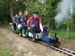 Five inch steam - Chairman at the back - looking a bit grumpy - but really just trying hard not to fall off!