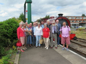 Trust volunteers on a day out at the Mid-Norfolk Railway