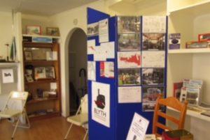 Interior - library boards in the centre