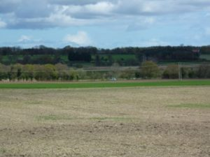 SR Trackbed in the distance - from Wenhaston village - look how horribly it obtrudes into the landscape (or so it is said)