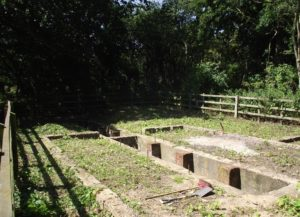 Loco shed foundations cleared