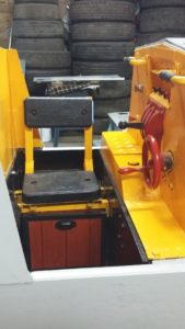 Cab, with new First-Aid/tool box under the seat
