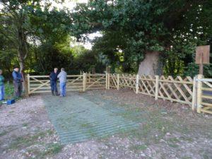 Goods yard entrance gates (Grassform grid underfoot)