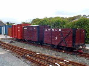 NWNGR Heritage Freight Train - although on 600mm track, these are as big as the SR stock